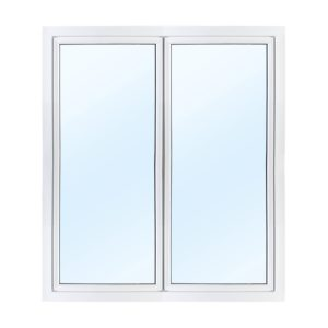 Helglasad dubbeldörr i PVC